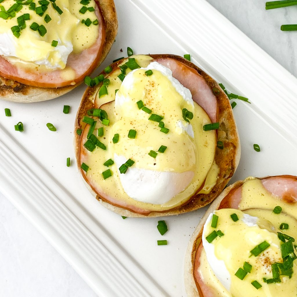 Plate of eggs benedict on Quincy MA